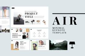 keynote themes compatible with powerpoint air minimal keynote template presentation templates creative market