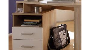 Schreibtisch Schwenkbare Tischplatte Corner Schwenkfunktion Sonoma Eiche Weiß