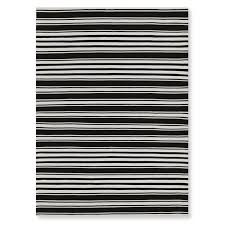Outdoor Rug 6 X 9 Riviera Stripe Indoor Outdoor Rug Black Williams Sonoma