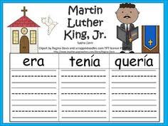 mlk martin luther king jr in spanish lessons printables