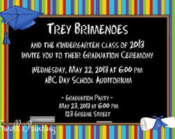 kindergarten graduation invitations preschool graduation invitations gangcraft net