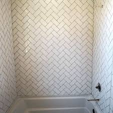 Bathroom Wall Tiling Ideas Tiled Bathroom Walls I Decided To Do A White Subway Tile But Lay