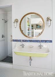 nautical bathroom mirrors nod to nautical bathroom trough sink the berkshire house