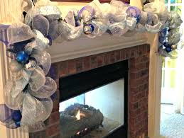 garland deco mesh garland in blue silver and white by