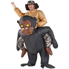 Inflatable Halloween Costumes Airblown Inflatable Illusion Costume Gorilla Rider