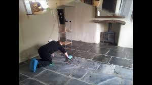 Best Way To Clean A Slate Floor by Cleaning Slate Floors In Cornwall Youtube