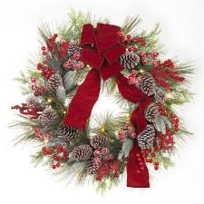 home accents 30 in pre lit artificial wreath