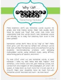 context clues nonsense words for intermediate grades by luckeyfrog