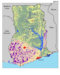 Western Africa Map by Land Use Land Cover And Trends In Ghana West Africa