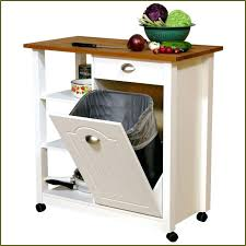 Kitchen Garbage Can With Lid by In Cabinet Pull Out Top Cabinet Trash Can Foot Pedal Stand Alone