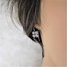 earrings everyday silver earrings shamrock earrings sleeper earrings