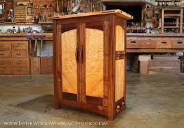 Walnut Cabinet Maple Burl Cabinet U2014 Lohr Woodworking Studio