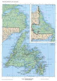 Physical Map Of North America by Newfoundland And Labrador Mapfree Maps Of North America