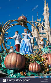 characters cinderella riding float