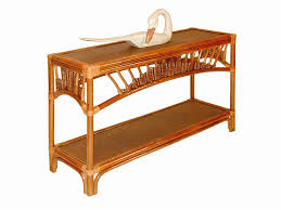 Rattan Console Table Sofa Table Console By Palm Springs Rattan Wolf And Gardiner Wolf