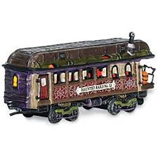 Department 56 Halloween Decorations by Amazon Com Department 56 Snow Village Halloween Haunted Rails