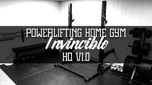 powerlifting basement gym tour invincible hq v1 0 youtube