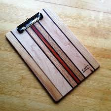 handmade personalized wooden clipboard with custom initials