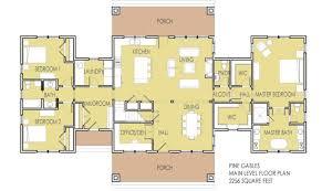25 harmonious single level home floor plans building plans