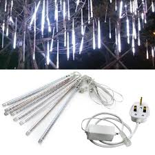 led meteor shower tube lights 8pcs 30cm led meteor shower rain tube light christmas decoration
