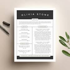 Creative Resume Templates For Word Creative Resume Template And Cover Letter Template For Word