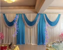 wedding backdrop blue 2018 luxury wedding backdrop curtain sequins swag 3m 6m10ft 20ft