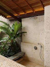 bathroom tropical shower curtains with rustic bathroom decor
