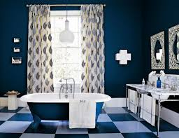 Bathroom Endearing Nautical Blue Small Tile Vector Pattern With Small White Polka Dots On Dark Brown