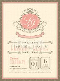 vintage pastel wedding invitation card background template stock
