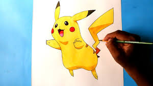 how to draw pokemon pikachu easy youtube