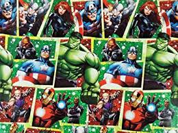marvel wrapping paper marvel officially licensed wrapping paper