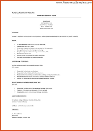 Sample Resume Of Nursing Assistant Resume Examples For Nursing Nursing Resume Objectives Pleasant