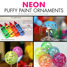 neon paint ornaments from margotpotter make these