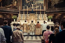 new liturgical movement first mass of father bertrand lacroix fssp