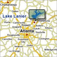 lake lanier map 8 best lake lanier images on atlanta and