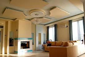 contemporary ceiling design with hidden lighting fixtures Modern house