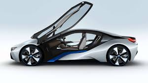 bmw electric car world debut of bmw i8 electric hybrid sports car concept youtube