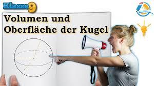 kugeloberfl che berechnen volumen oberfläche kugel klasse 9 wissen