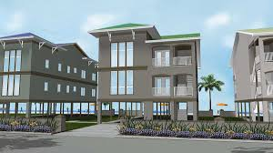 dual family house plans 2 family house plan on stilts 62573dj architectural designs