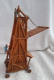 vintage siege vintage elastolin siege tower condition with figure ebay