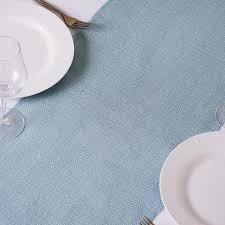 burlap table runners wholesale authentic rustic burlap runner serenity blue tablecloths factory