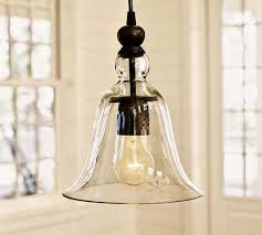 Kitchen Pendant Light Fixtures by Winsoon Ecopower 1 Light Vintage Hanging Big Bell Glass Shade