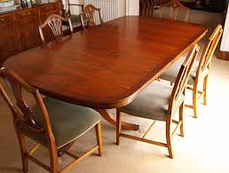 Yew Dining Table And Chairs Bevan Funnell Yew Dining Room Table Plus Six Chairs And Two