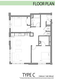 Two Bedroom Floor Plan by Edge Allston Floor Plans Layouts At The Edge Luxury Building