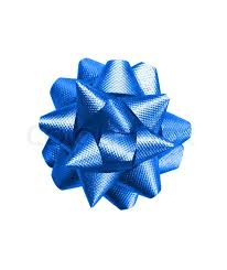 blue bows gift blue bow isolated on white background stock photo
