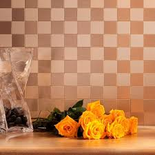 Aspect Square Matted  In X  In Metal Decorative Tile - Aspect backsplash tiles