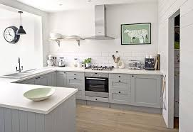 Grey Shaker Kitchen Cabinets Design Item Kitchen Of The Week Serene Painted And Grey