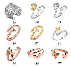 cheap heart rings images 2018 925 silver heart shaped ring rose gold ring fashion jewelry jpg