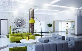 modern green gray white living room open floor plan love how