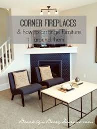 Similar Floor Plan And Corner Fireplace To Our House Different - Furniture placement living room with corner fireplace